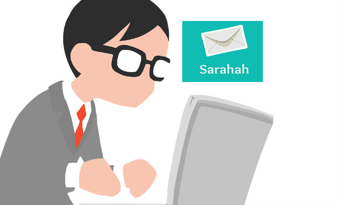 how to use sarahah app