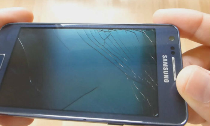Broken mobile display
