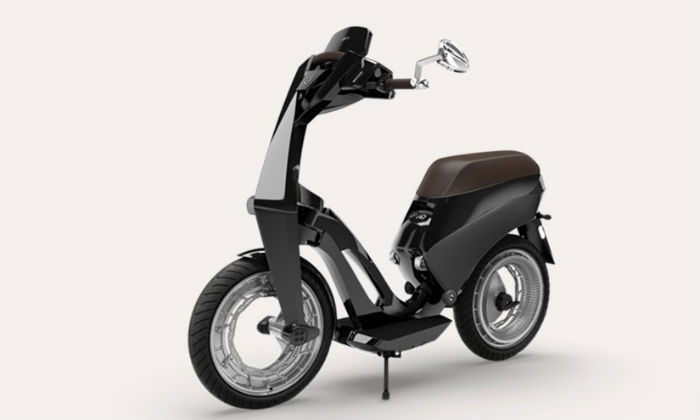 Folded electronic scooter launched